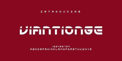 Futurism style alphabet vector
