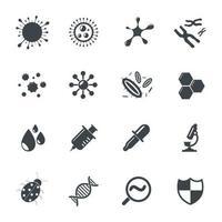 Virus Icons Vector illustration