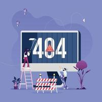 Concept 404 Error Page or File not found for web page vector