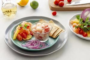 composición de alimentos integrales saludables foto