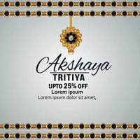 Indian festival akshaya tritiya jewelry sale discount background vector