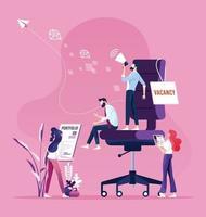 Businessman are hiring new staff. Recruitment concept vector
