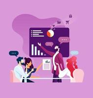 reunión corporativa empresarial. vector de concepto de negocio