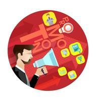 vector de concepto de promoción empresarial