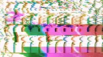 Retro 80er Jahre verdorbenes VHS-Rauschen video