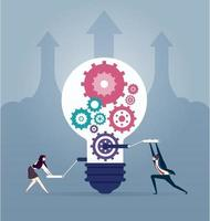 Business people creative idea. Creating ideas and teamwork concept design element vector