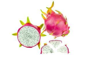 Beautiful pink dragon fruit or pitaya photo