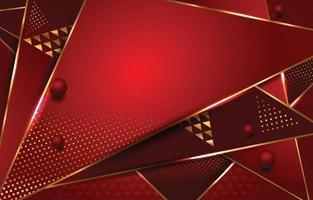 Red Color Background with Gold Outline vector