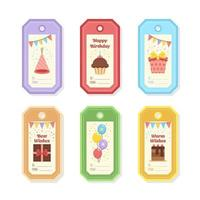 Colourful Birthday Gift Tag Collection vector