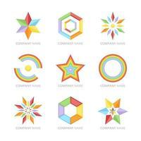 Colourful Rainbow Logo Collection vector