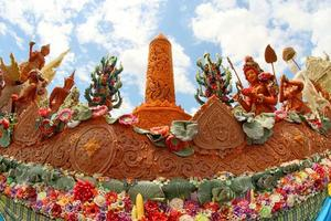 Candle wax Festival in Ubon Ratchathani, Thailand photo