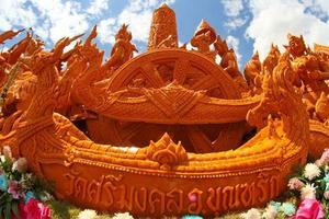 Candle wax Festival in Ubon Ratchathani, Thailand photo