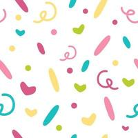 Colorful Confetti Geometric Lines Vector Pattern. Abstract girly pattern.
