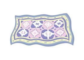 knitted carpet flat vector illustration