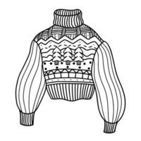 cute winter sweater. vector illustration