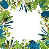 Tropical Summer Leaf Background Concept vector