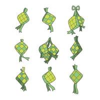 Ketupat in Different Angles vector