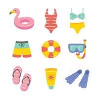 verano en la playa elementos vector