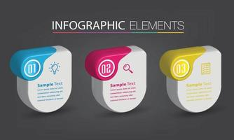 modern text box template banner Infographics vector
