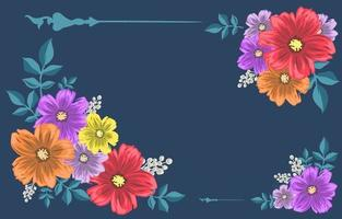 Colorful Tropical Flowers vector