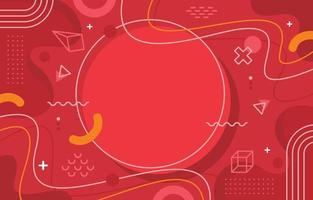 Flat Abstract Red Background vector