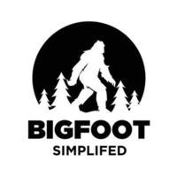premium logo of big foot yeti vector icon illustration design