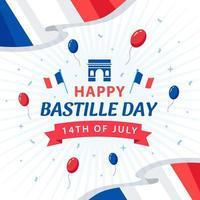 Happy Bastille Day 14th July vector