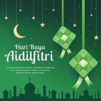 Traditional Ketupat for Eid Al Fitr vector