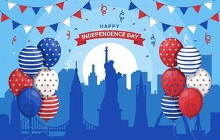 USA Landmark with Baloon Background vector
