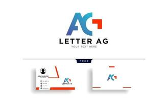 Letter AG or G creative logo template vector illustration with business card template vector