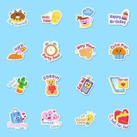 Party and Celebration Sticker vector