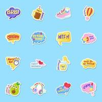 Sticker of Slang Words vector