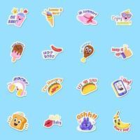 Food Sticker Elements vector