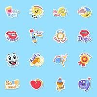 Funny Sticker Elements vector