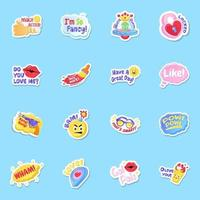 Social Media Likes and Feedback Stickers vector