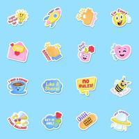 Social Media Sticker vector