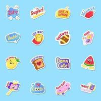 Super Cool Sticker vector