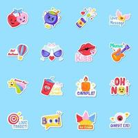 Party Sticker Style vector