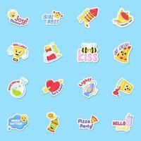 Joy and Fun Sticker vector