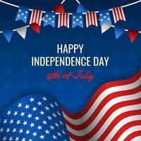 concepto de fondo del día de la independencia americana vector