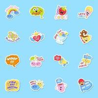 Sticker Vectors of Summer