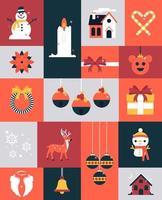 Happy Holidays Elements vector