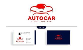 Car automotive logo in simple line graphic design template vector