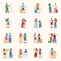 Tourists and Travelers vector