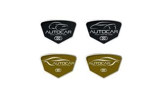 Car automotive logo set in simple line graphic design template vector Vector