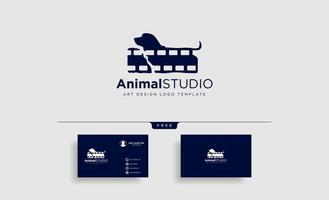 animal film studio logo template vector icon element vector