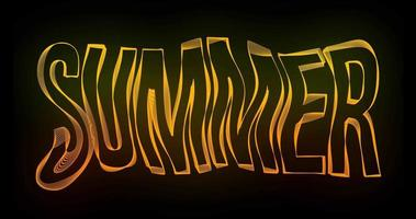 summer Creative Typography Text Animation with wavy color lines video