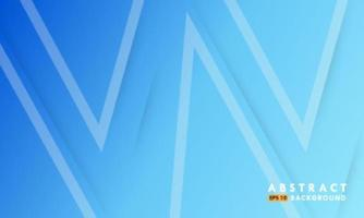 Bright blue background with line triangle shapes vector