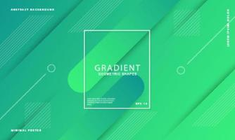 Abstract green gradient shape background vector