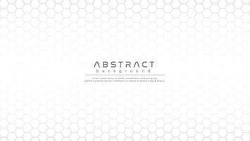 Elegant light silver hexagonal shapes background vector